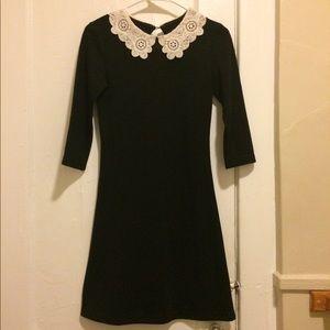 Black Dress White Lace Collar, Wednesday Addams